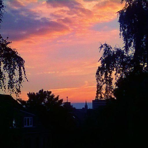 Abendhimmel über dem Frankenberger Viertel - (c)2016 by PeWoAC