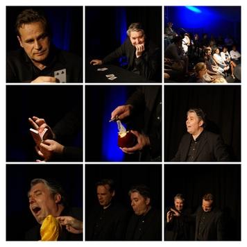 Ein Tisch, zwei Künstler, vier Hände und 35 Zuschauer sind Garant für einen zauberhaften Abend voller Magie, Witz und Unterhaltung.